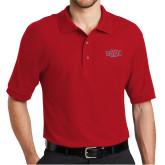 Red Easycare Pique Polo-A State