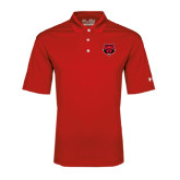 Under Armour Red Performance Polo-Red Wolf Head