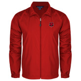 Full Zip Red Wind Jacket-Red Wolf Head