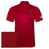 Adidas Climalite Red Grind Polo-Red Wolf Head