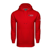 Under Armour Red Performance Sweats Team Hood-Red Wolf Head w/A State