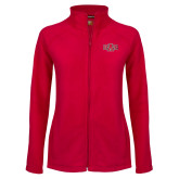 Ladies Fleece Full Zip Red Jacket-A State