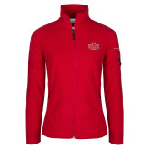 Columbia Ladies Full Zip Red Fleece Jacket-A State