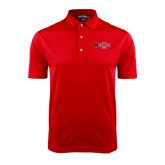 Red Dry Mesh Polo-Red Wolf Head w/A State