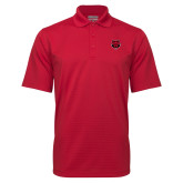 Red Mini Stripe Polo-Red Wolf Head