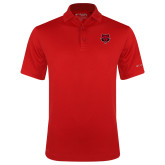 Columbia Red Omni Wick Round One Polo-Red Wolf Head