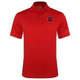 Columbia Red Omni Wick Drive Polo-Red Wolf Head