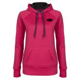 Ladies Pink Raspberry Tech Fleece Hoodie-A State