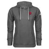 Adidas Climawarm Charcoal Team Issue Hoodie-Red Wolf Head