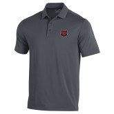 Under Armour Graphite Performance Polo-Red Wolf Head