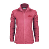 Ladies Fleece Full Zip Raspberry Jacket-A State
