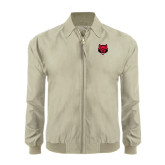 Khaki Players Jacket-Red Wolf Head