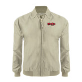 Khaki Players Jacket-Red Wolf Head w/A State