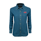 Ladies Denim Long Sleeve Shirt-A State