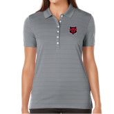 Ladies Callaway Opti Vent Steel Grey Polo-Red Wolf Head