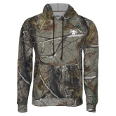 Realtree Camo Fleece Hoodie-Red Wolf Head