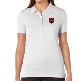 Ladies Callaway Opti Vent White Polo-Red Wolf Head