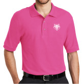 Tropical Pink Easycare Pique Polo-Red Wolf Head
