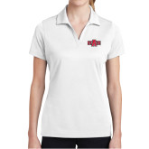 Ladies White Dry Mesh Polo-A State