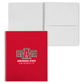 College Spiral Notebook w/Clear Coil-University Mark