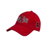 Red Heavyweight Twill Pro Style Hat-A State