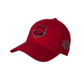 Red Heavyweight Twill Pro Style Hat-Red Wolf Head