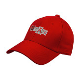 Red Heavyweight Twill Pro Style Hat-A State w Red Wolf