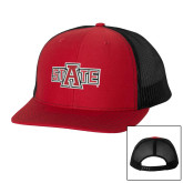 Richardson Red/Black Trucker Hat-A State