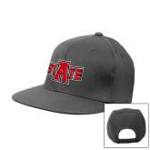 Charcoal Flat Bill Snapback Hat-A State