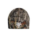 Mossy Oak Camo Fleece Beanie-Red Wolf Head