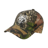 Mossy Oak Camo Structured Cap-Red Wolf Head