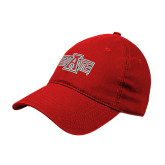 Red Twill Unstructured Low Profile Hat-A State