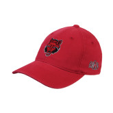Red Flexfit Unstructured Low Profile Hat-Red Wolf Head