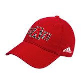 Adidas Red Slouch Unstructured Low Profile Hat-A State