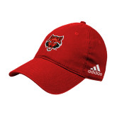 Adidas Red Slouch Unstructured Low Profile Hat-Red Wolf Head