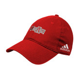 Adidas Red Slouch Unstructured Low Profile Hat-A State w Red Wolf