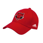 Adidas Red Structured Adjustable Hat-Red Wolf Head