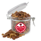 Deluxe Nut Medley Round Canister-Red Wolf Head