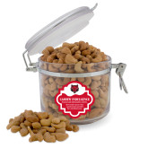 Cashew Indulgence Round Canister-Red Wolf Head
