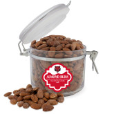Almond Bliss Round Canister-Red Wolf Head