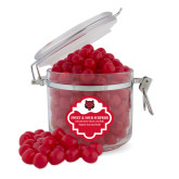 Sweet & Sour Cherry Surprise Round Canister-Red Wolf Head