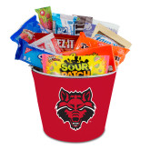 Metal Gift Bucket w/Neoprene Cover-Red Wolf Head