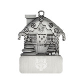 Pewter House Ornament-Red Wolf Head Engraved