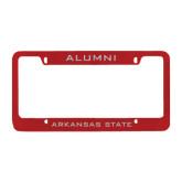 Metal Red License Plate Frame-Alumni
