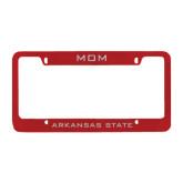 Metal Red License Plate Frame-Mom