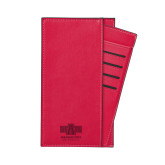 Parker Red RFID Travel Wallet-University Mark Engraved