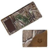 Canyon Realtree Camo Tri Fold Wallet-Red Wolf Head Engraved