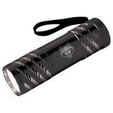 Astro Black Flashlight-Red Wolf Head Engraved