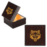 Wooden Jewelry Box-Red Wolf Head Engraved