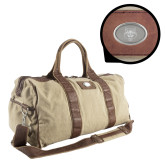 Canyon Mason Canvas Duffel-Red Wolf Head Engraved
